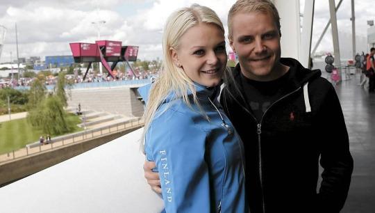 Valtteri Bottas與Emilia Pikkarainen
