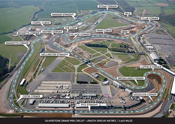 F1發源地-英國Silverstone賽道