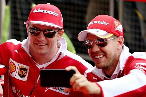 Ferrari紅軍雙雄-Sebastian Vettel與芬蘭冰人Kimi Raikkonen