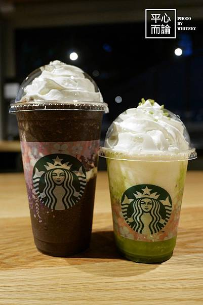 星巴克-夜色摩卡星冰樂、抹茶起司蛋糕星冰樂 (1)