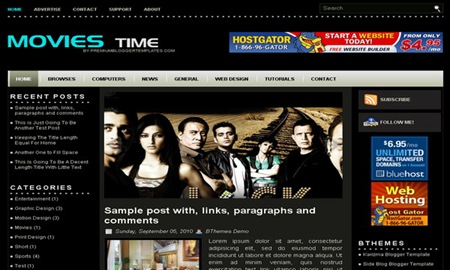 Movies Time Blogger Template