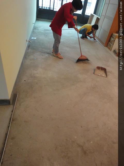 施工前整理地面