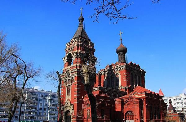 阿列克谢耶夫教堂 风格与圣索非亚完全不同