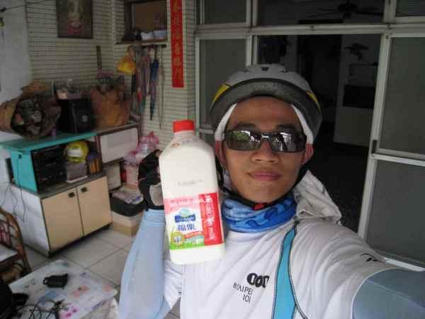 54到家了,順便買瓶牛奶