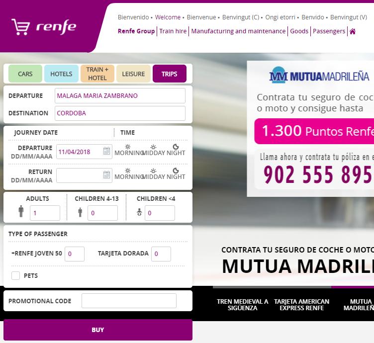西班牙火車Renfe