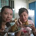 芷寧&億文準備要吃肉粽了