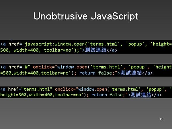 Unobtrusive JavaScript 2