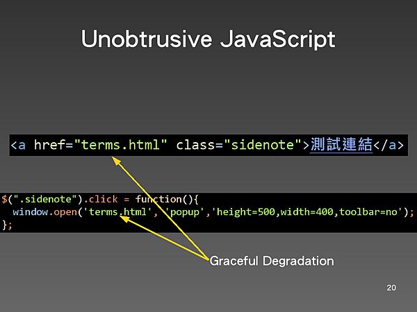 Unobtrusive JavaScript 3