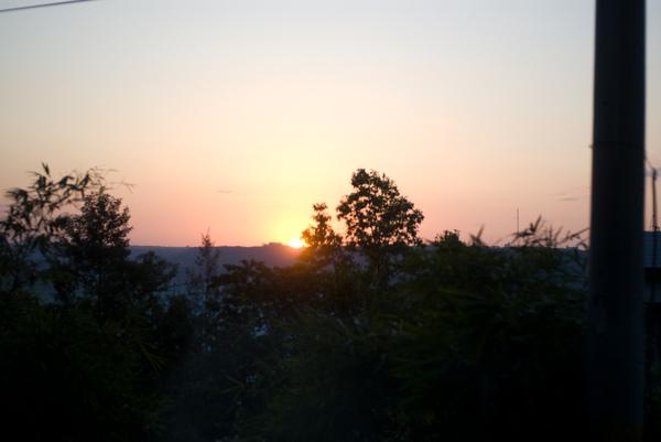 車上的夕陽