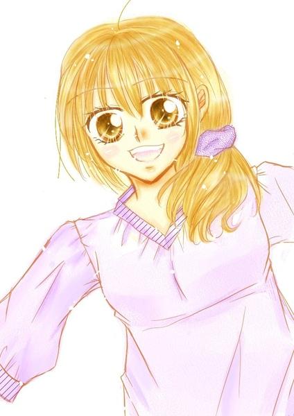 紫色 . 衣 . 笑容