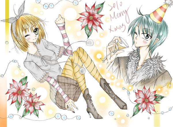 (2010聖誕應景圖)暖暖~