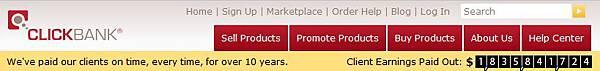 clickbank已發出超過18億美金的佣金