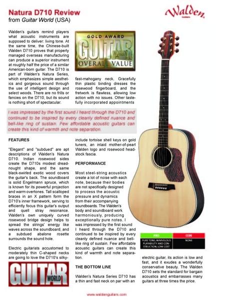 WALDEN D710 REVIEW