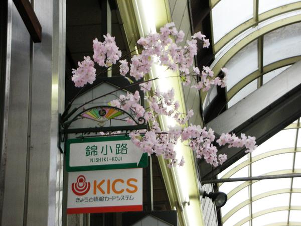 真的是櫻花季喔 商店街有櫻花裝飾.jpg