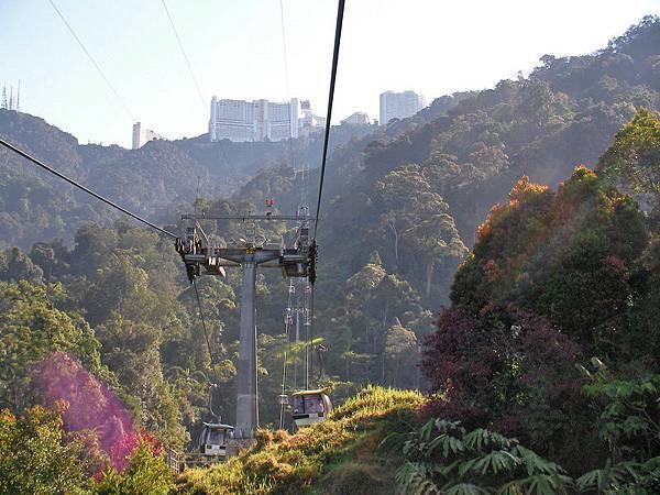 雲頂高原的纜車風景