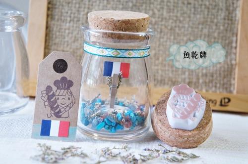blog法國麵包女孩祈願瓶1