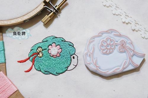 BLOG刺繡 花朵女孩