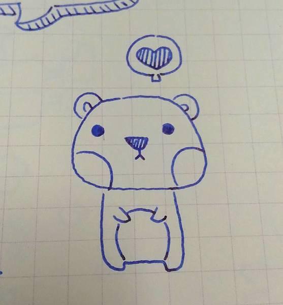 臭臉熊(愛心)