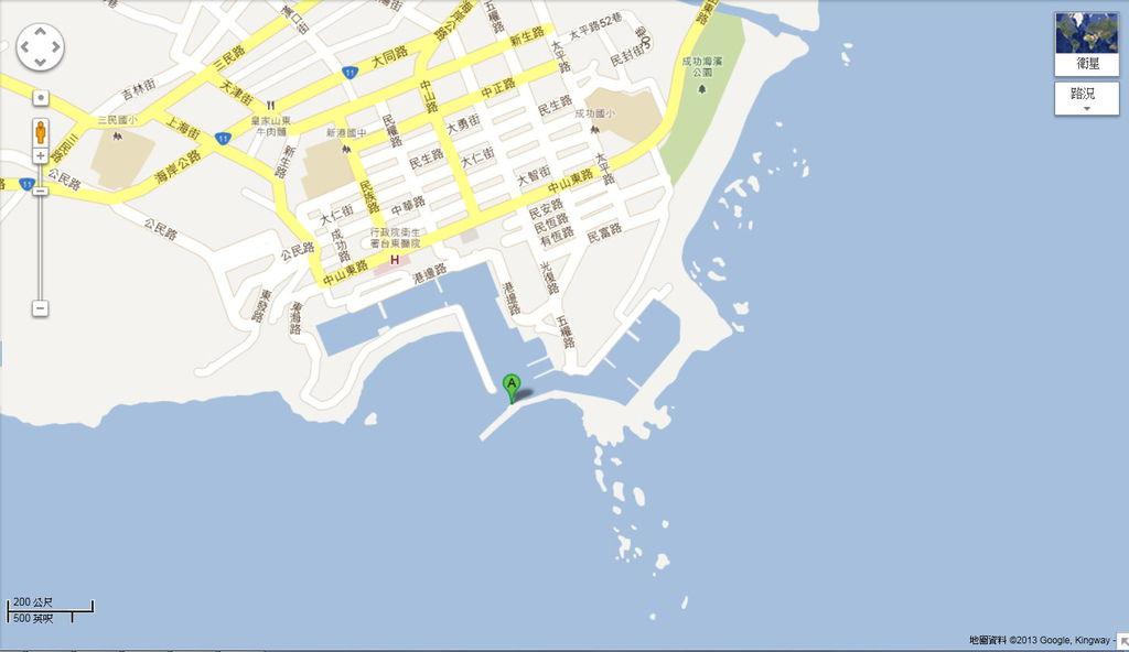 新港燈塔地圖