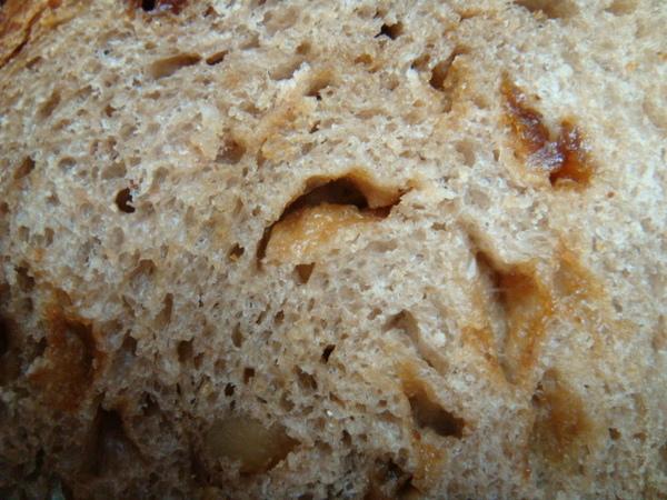 酒釀桂圓大麵包內部組織圖