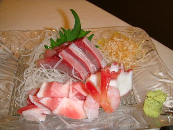 魚鮨-招牌最青生魚片(紅魽、章魚、大鮪肚、甜蝦)