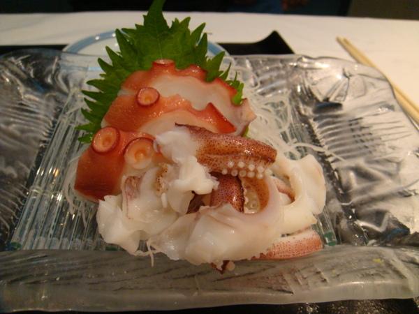 魚鮨-不吃生魚者的前菜(章魚、花枝)