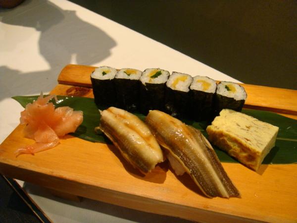 魚鮨-不吃生魚的握壽司之穴子魚、紫蘇醃蘿蔔、玉子