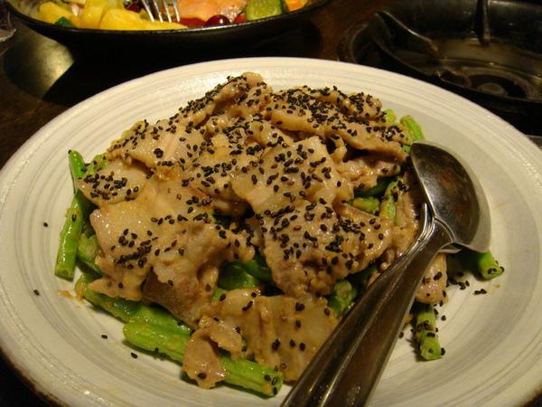 豆蒄-芝麻有機豬拌四季豆