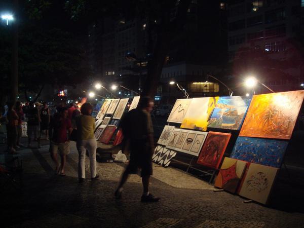星期六日晚上的藝術市集