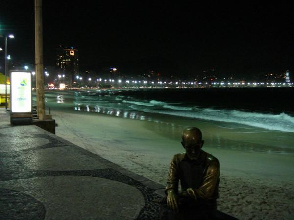 老人與Copacapana海岸