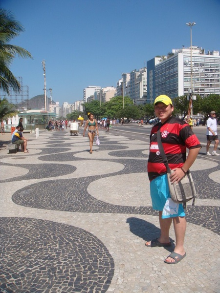 招牌的海浪形Copacapana步道-1