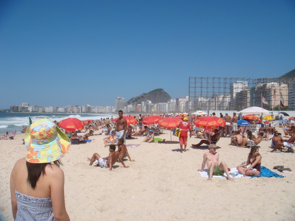 Copacapana海灘日光浴
