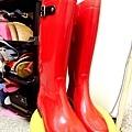 莎莎歐款側扣雨靴 38碼 賣300$ 已預定
