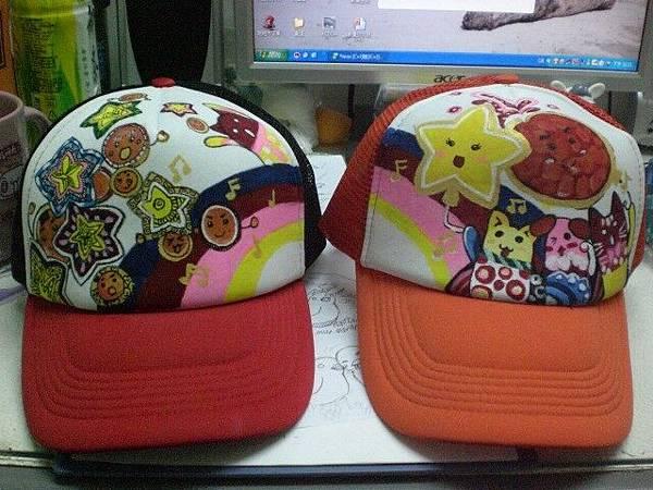 彩虹情侶帽