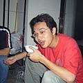 005.示範照片1  喝湯前的表情(編按...看起來依然很淫蕩....)
