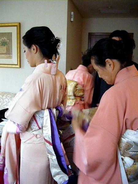 第一次見到和服新娘