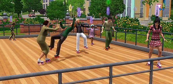 skate on the roller rink