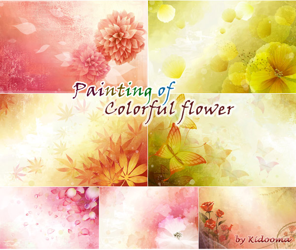 colorful_flower1_sims3_painting_wallart00