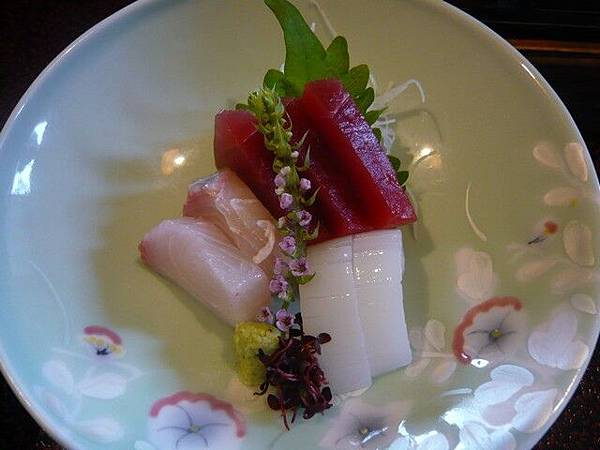 非常新鮮的生魚片