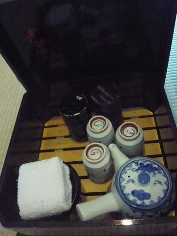 房間裡有茶具