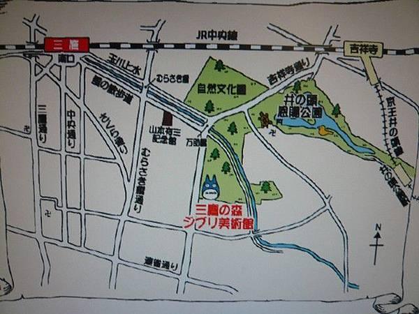 三鷹吉卜力美術館地圖