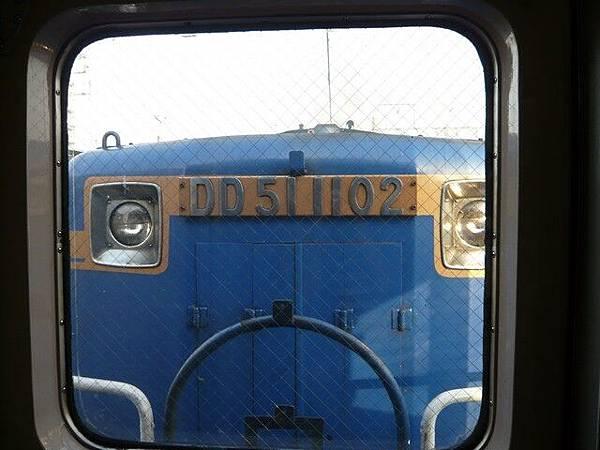 我們是第一車廂  這可以看到車頭
