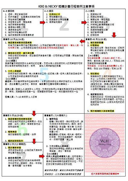 婚禮計畫行程表2