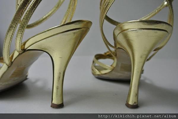 NINE WEST金色水鑽晚宴鞋國標舞鞋3
