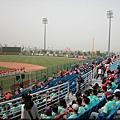 桃園青埔棒球場有像是天母球場一樣的綠色鐵網.