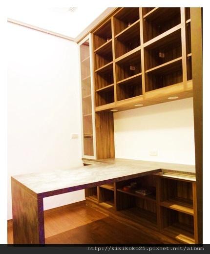 開放式收納櫃 活動書桌 翔富室內裝潢.JPG