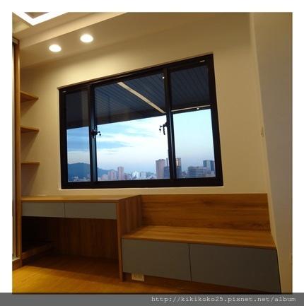 開放式收納櫃 書桌 窗邊櫃 翔富室內裝潢.JPG