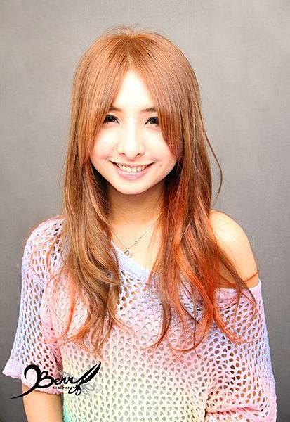 2012秋冬髮色 米黃 x 金橘色8