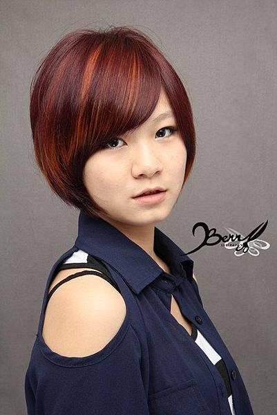 2012秋冬髮色 古金色x高貴紫紅4