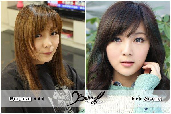 2013秋冬流行髮型 網拍model小豬 梨花風都會女孩01